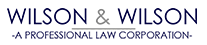 Wilson  Wilson | A Professional Law Corporation